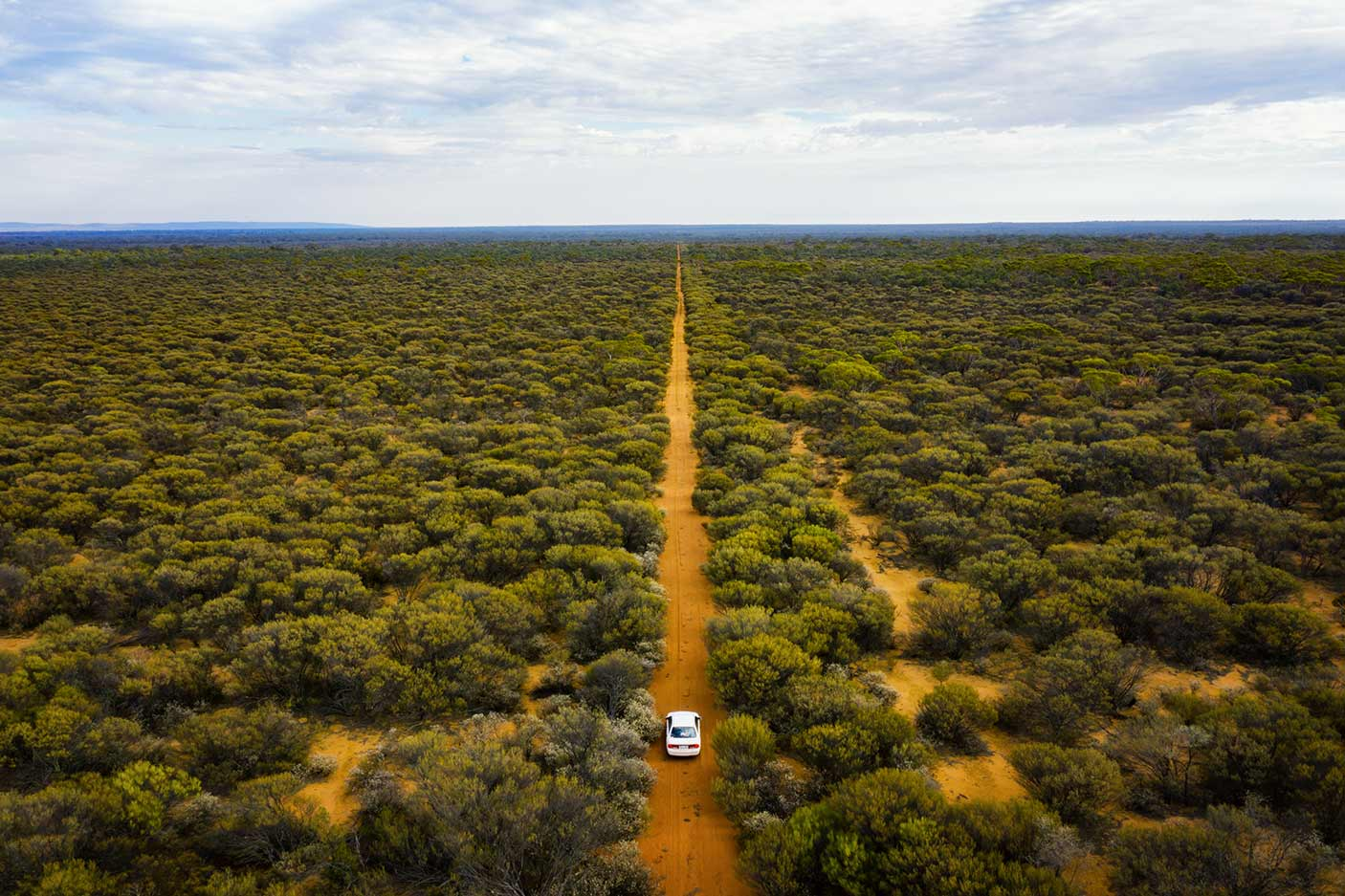Car driving in West Australian outback