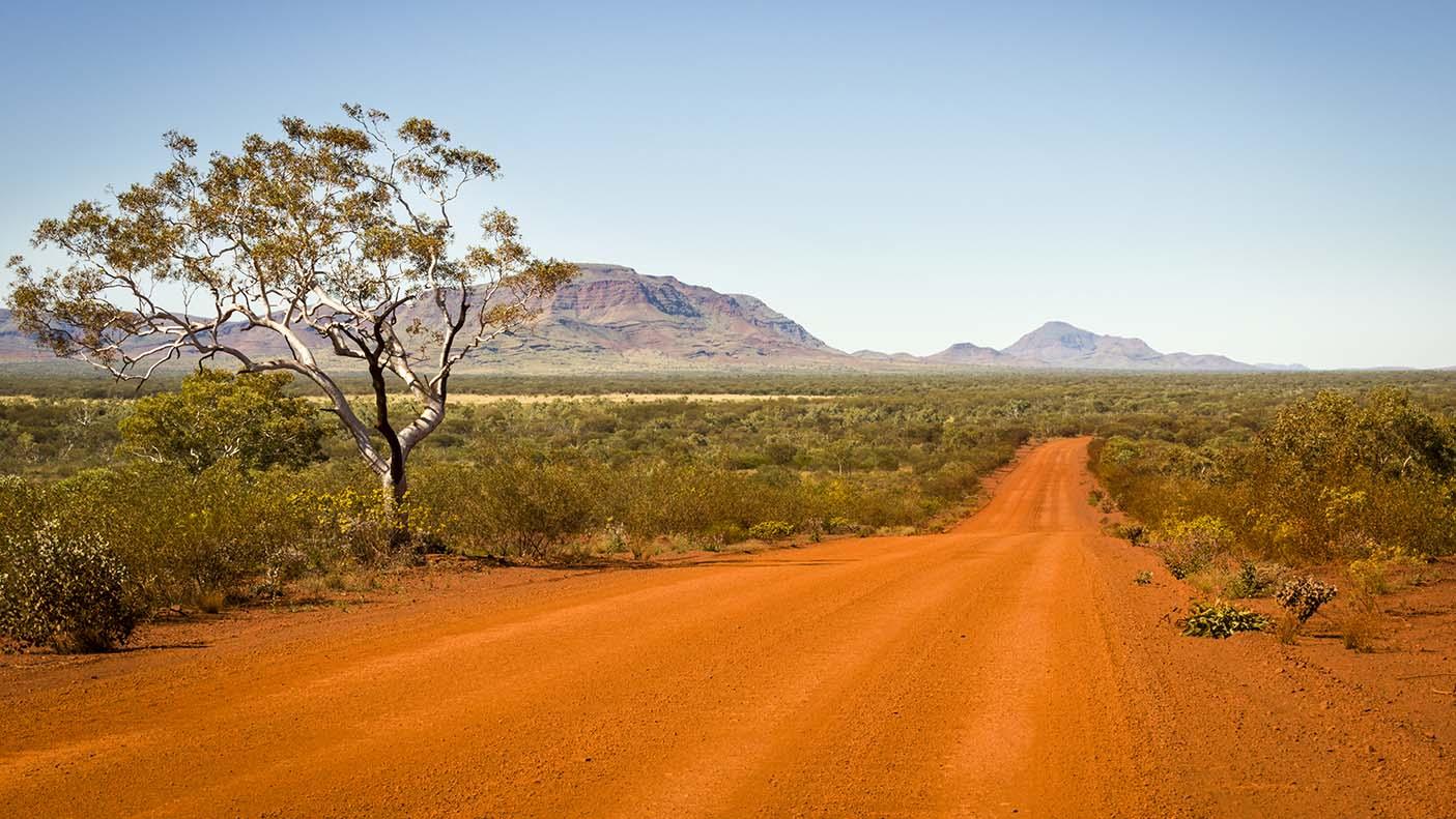 A remote road in the Pilbara