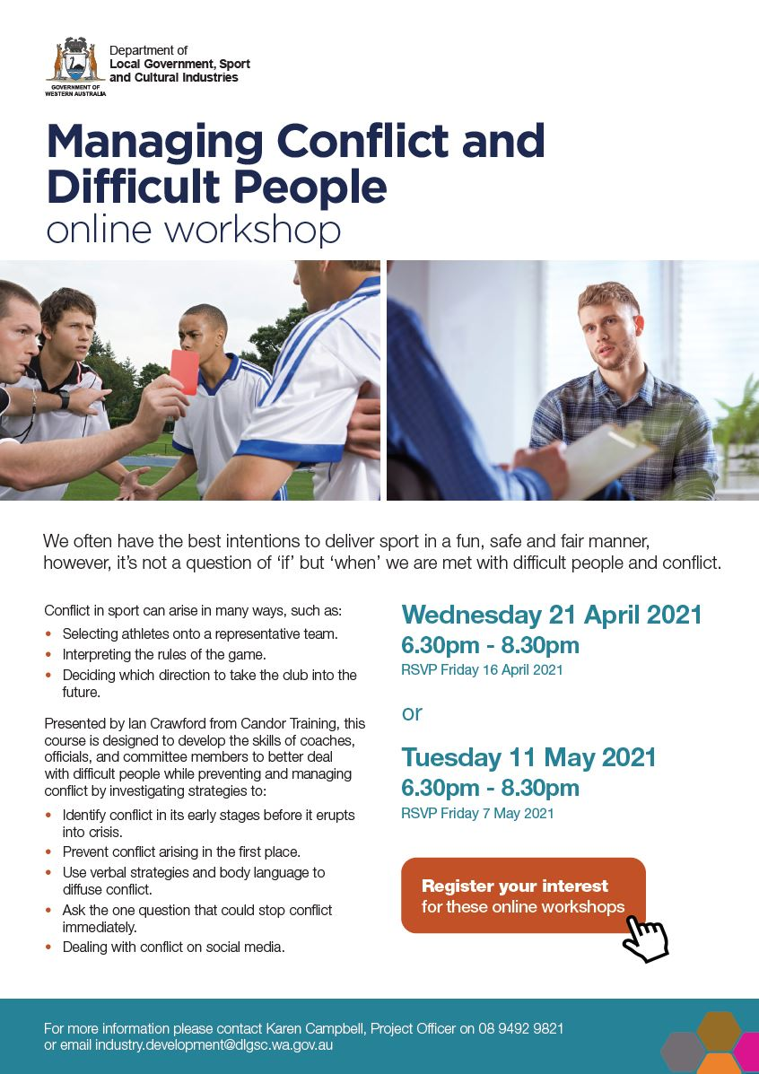 Managing Conflict and Difficult People flyer