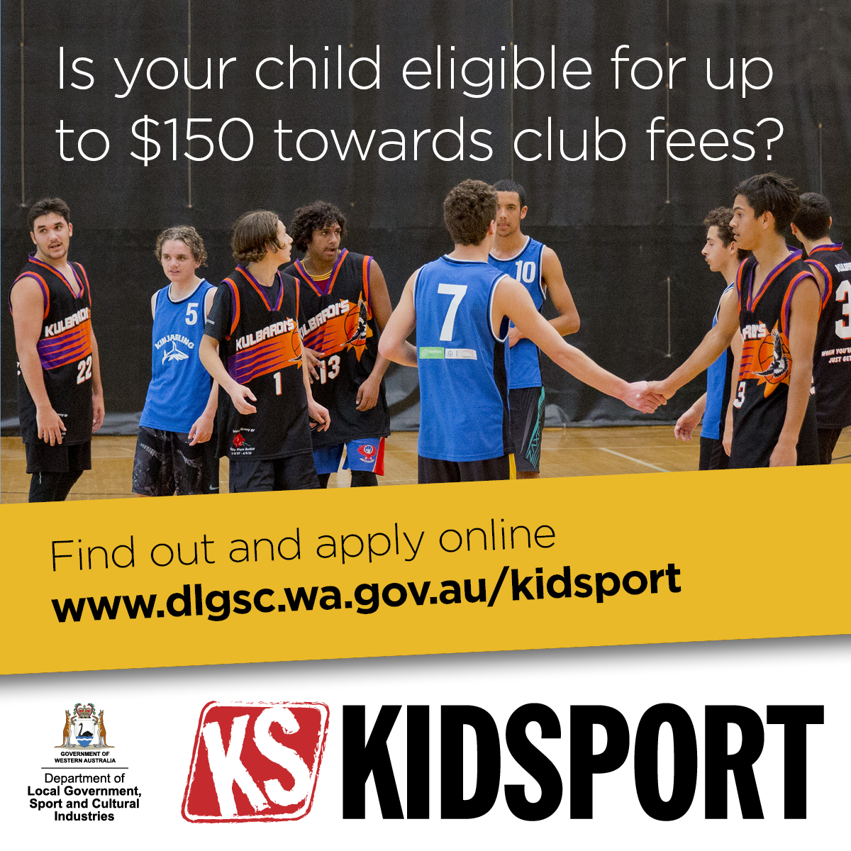 KidSport website image Is Your Child Eligible
