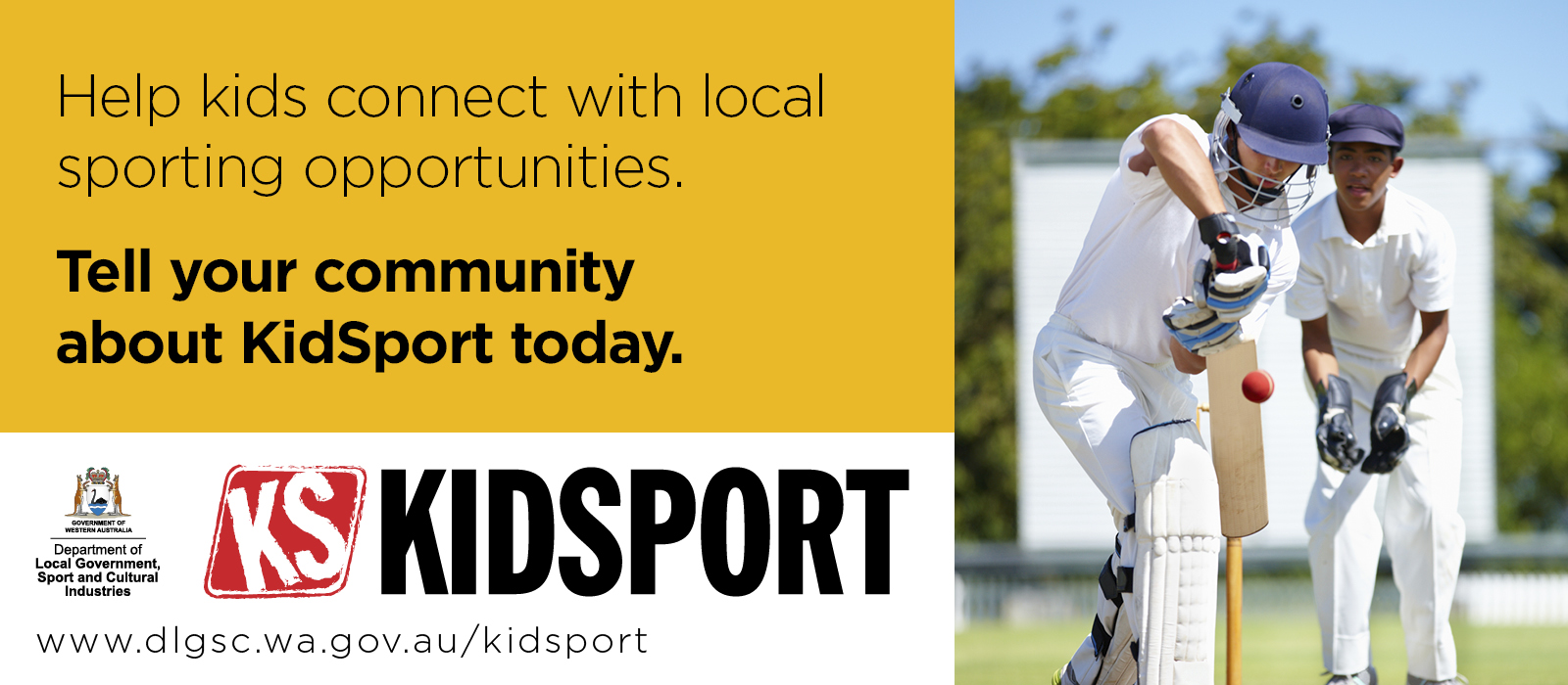 KidSport website image Help kids connect with local sporting opportunities