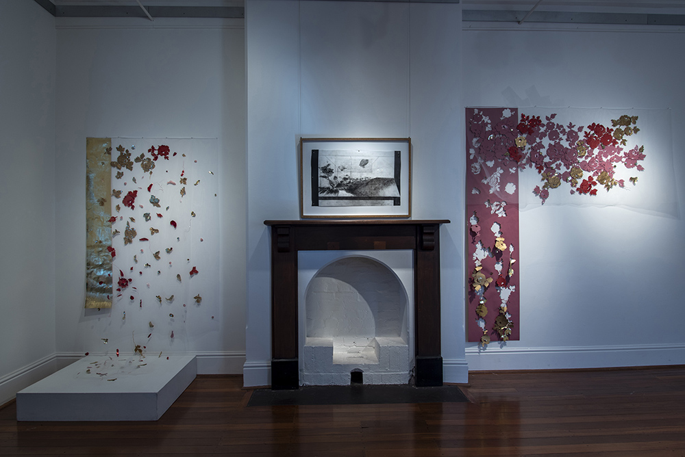 'Oblivion' by Elisa Markes-Young, Katharina Meister and Ruth Halbert at Bunbury Regional Art Gallery; Bunbury; August 2021. Photo by Christopher Young.