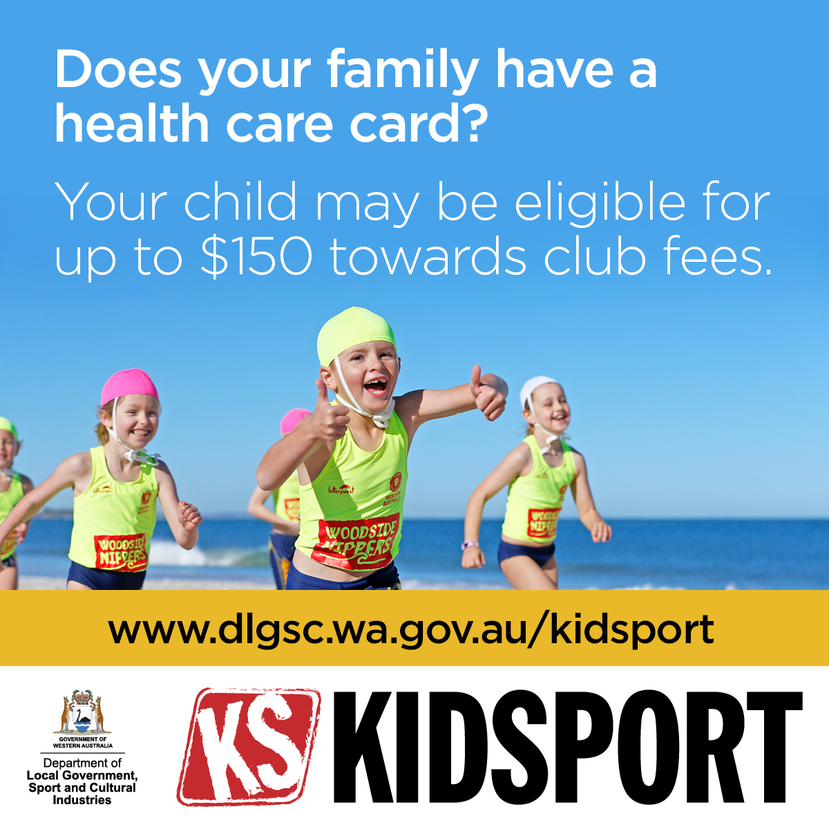 KidSport - Your child may be eligible for up to $150 towards club fees