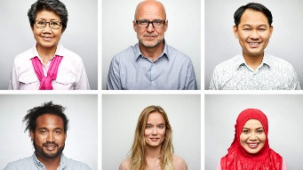 A stock image of portraits of people from diverse backgrounds