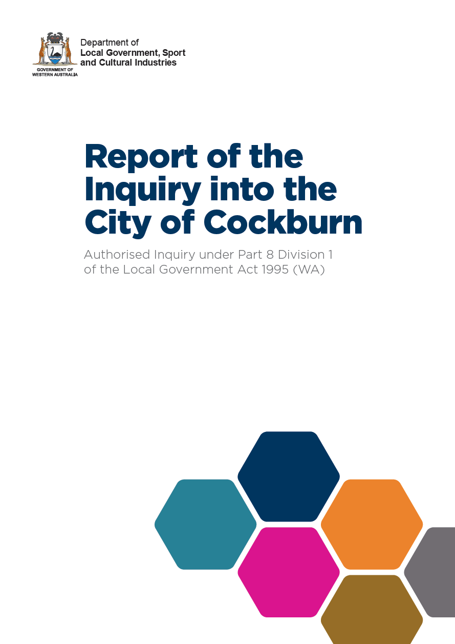 Report of the Inquiry into City of Cockburn cover