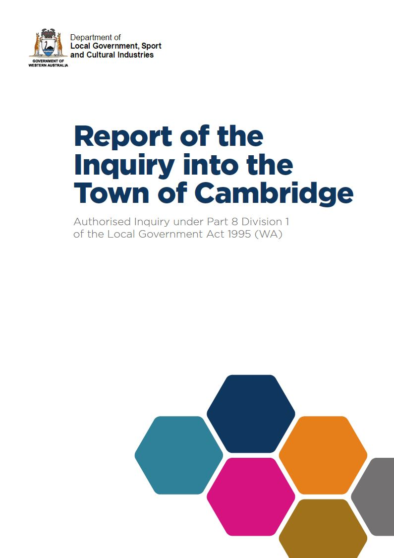 Report of the Inquiry into the Town of Cambridge. cover