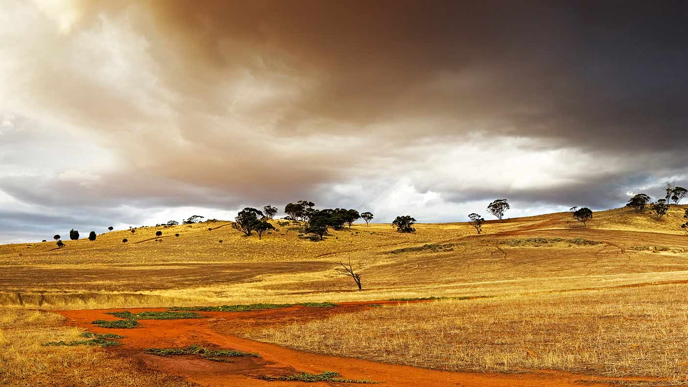 Thunderstorm over dry farmland, Toodyay WA. Credit: Neal Pritchard Photography, Getty Images