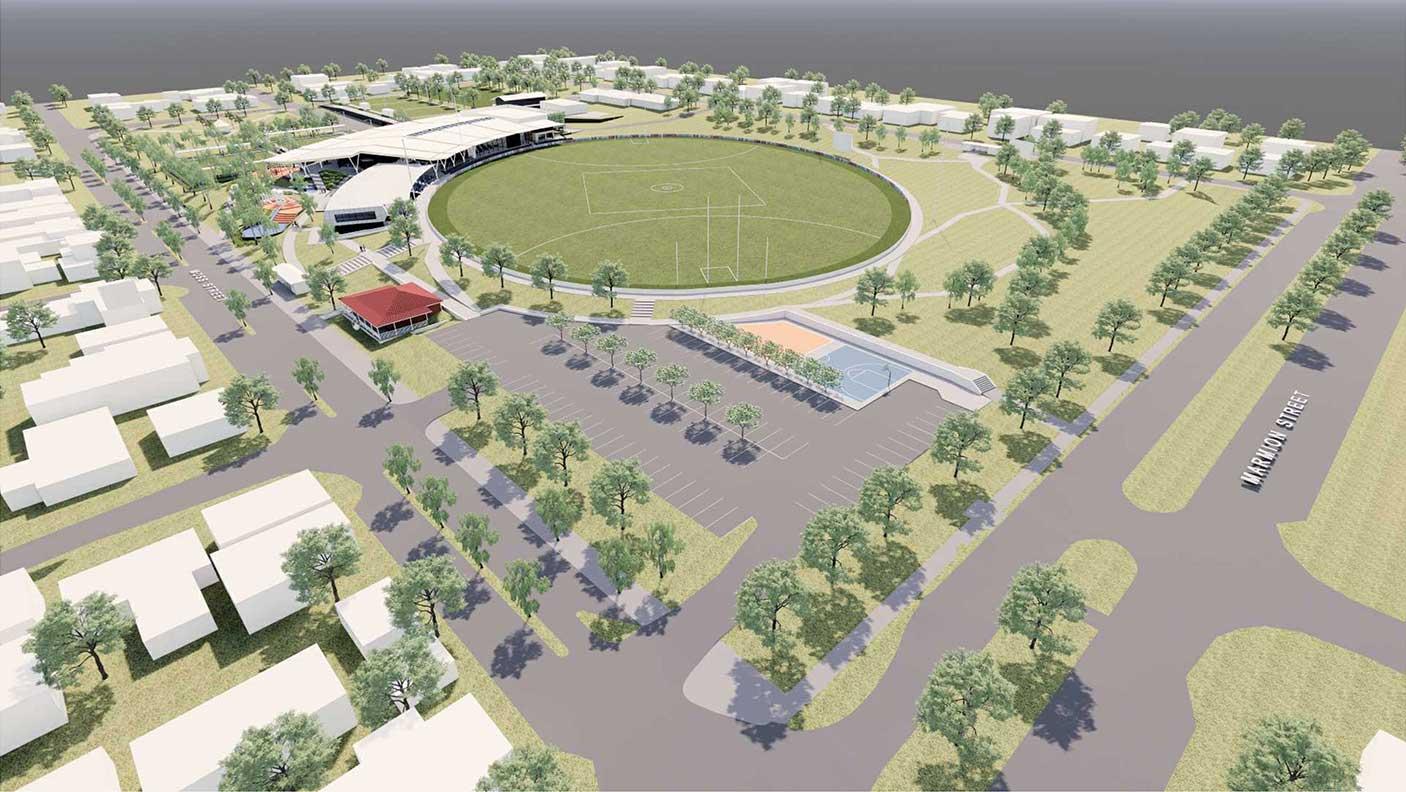 Computer generated artist impression of East Fremantle Oval