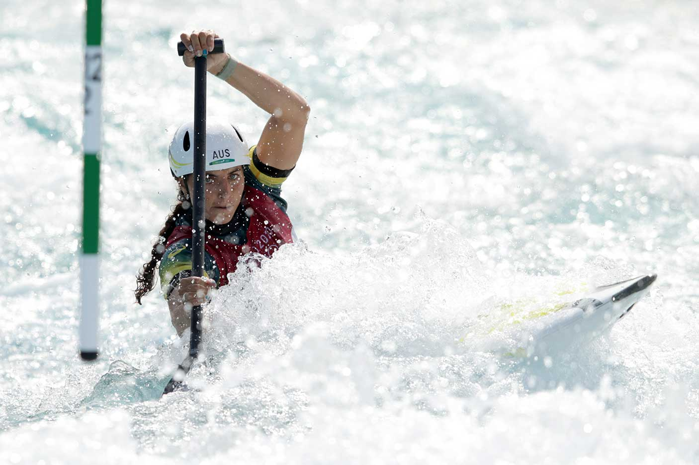 Jessica Fox of Team Australia competes during the Women's Canoe Slalom Semi-final