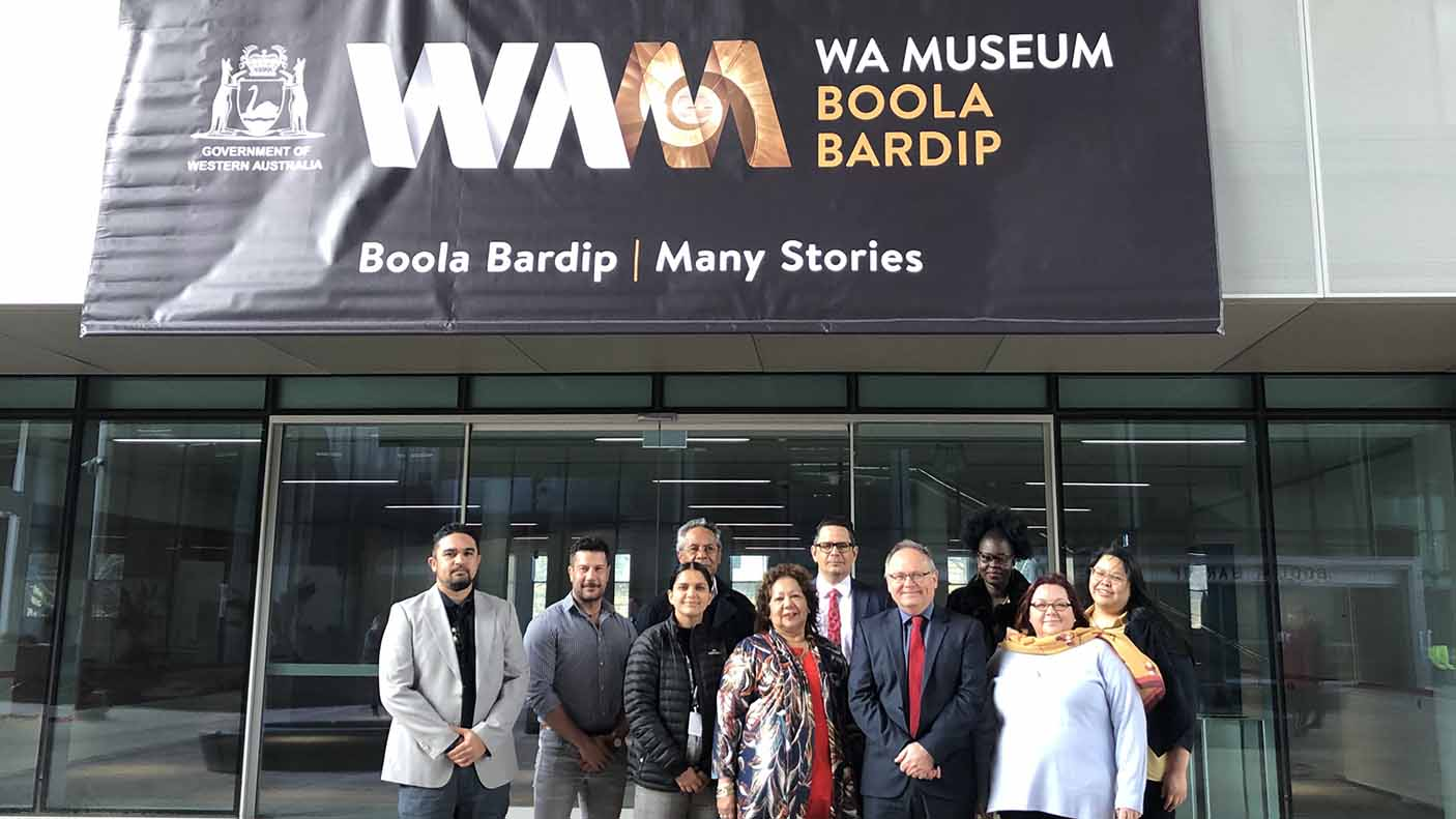 A group of people outside of the new WA Museum