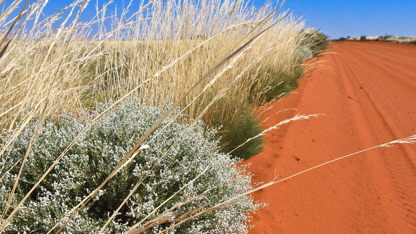 Red dirt road in Western Australia