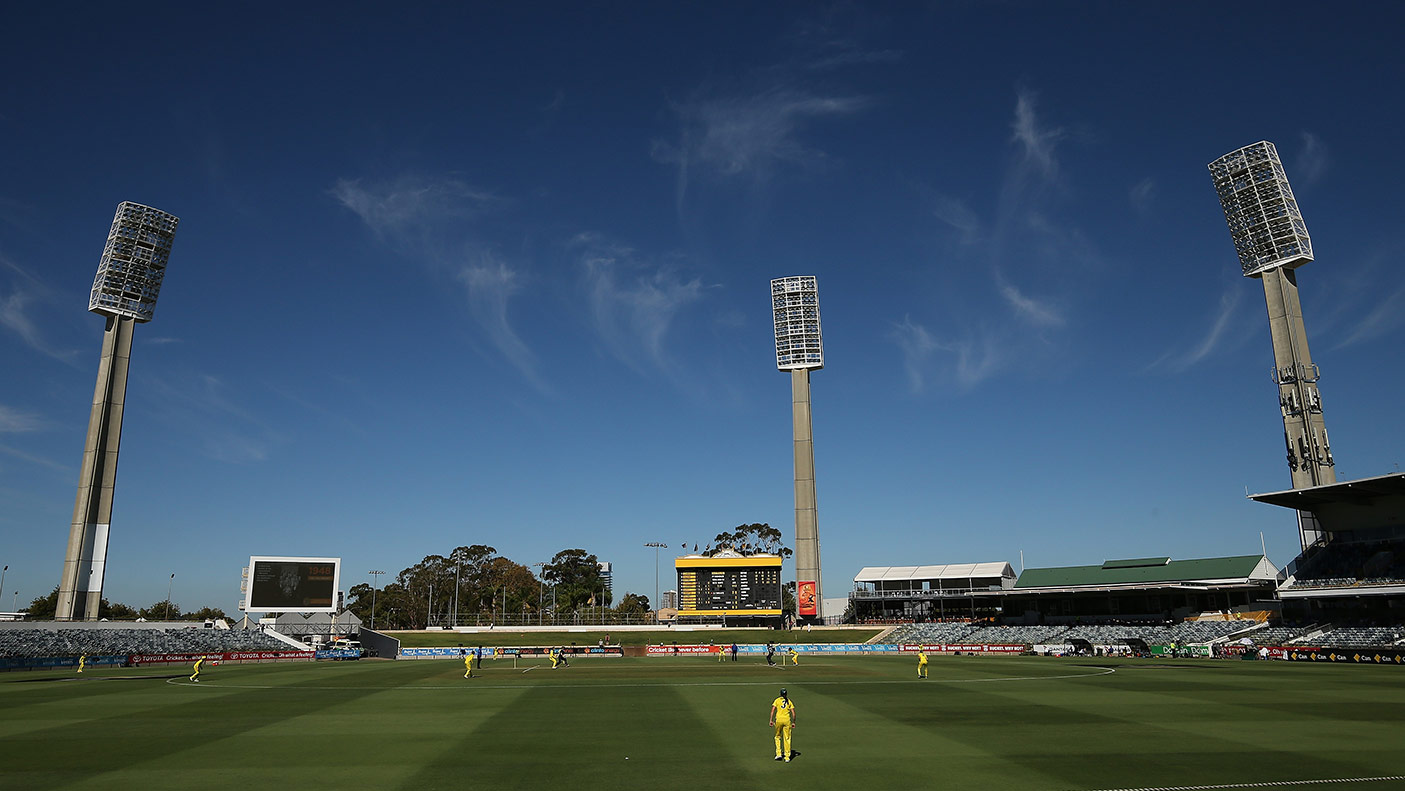 A general view of play during Game 1 of the Women's One Day International series between Australia and New Zealand at the WACA on February 22, 2019 in Perth, Australia. (Photo by Paul Kane/Getty Images)