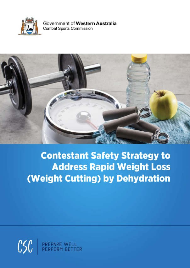 Contestant Safety Strategy to Address Rapid Weight Loss (Weight Cutting) by Dehydration cover