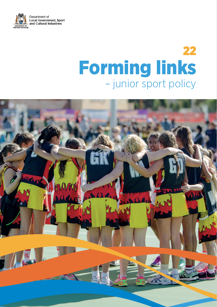 Forming links  Junior sport policy cover