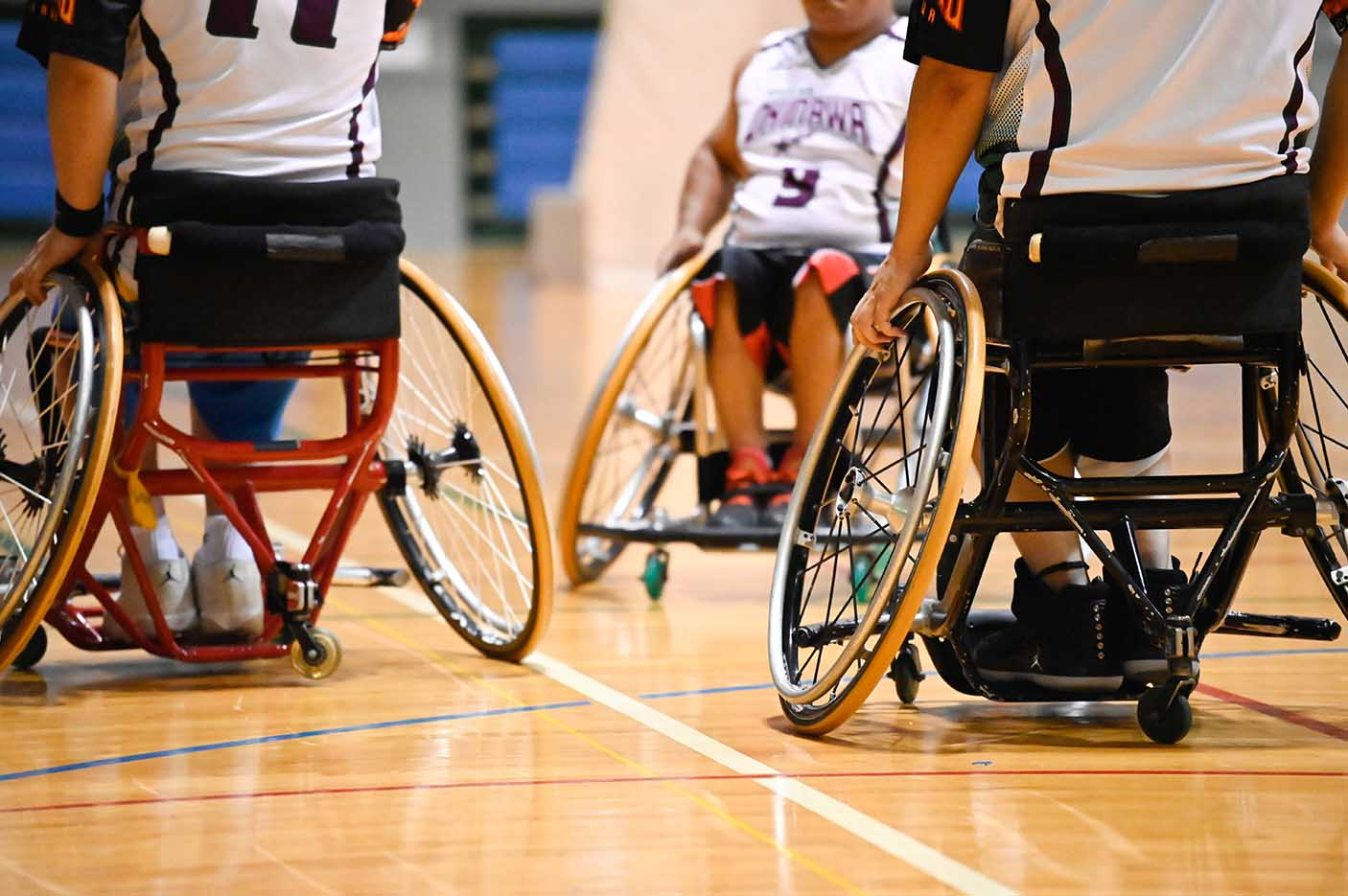Wheelchair basketball close up