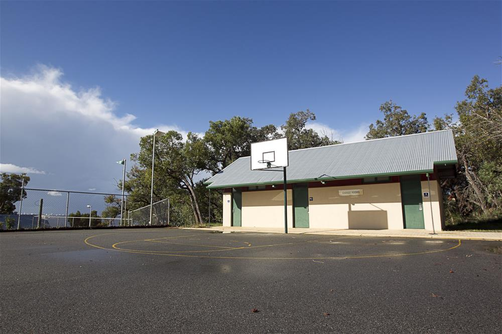 Basketball court and day program change rooms