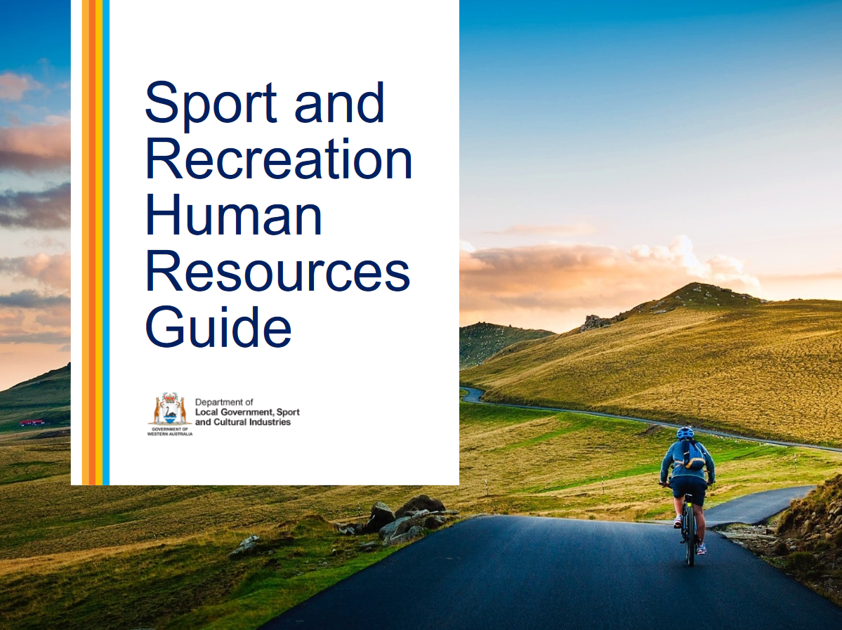 Sport and Recreation Human Resources Guide cover
