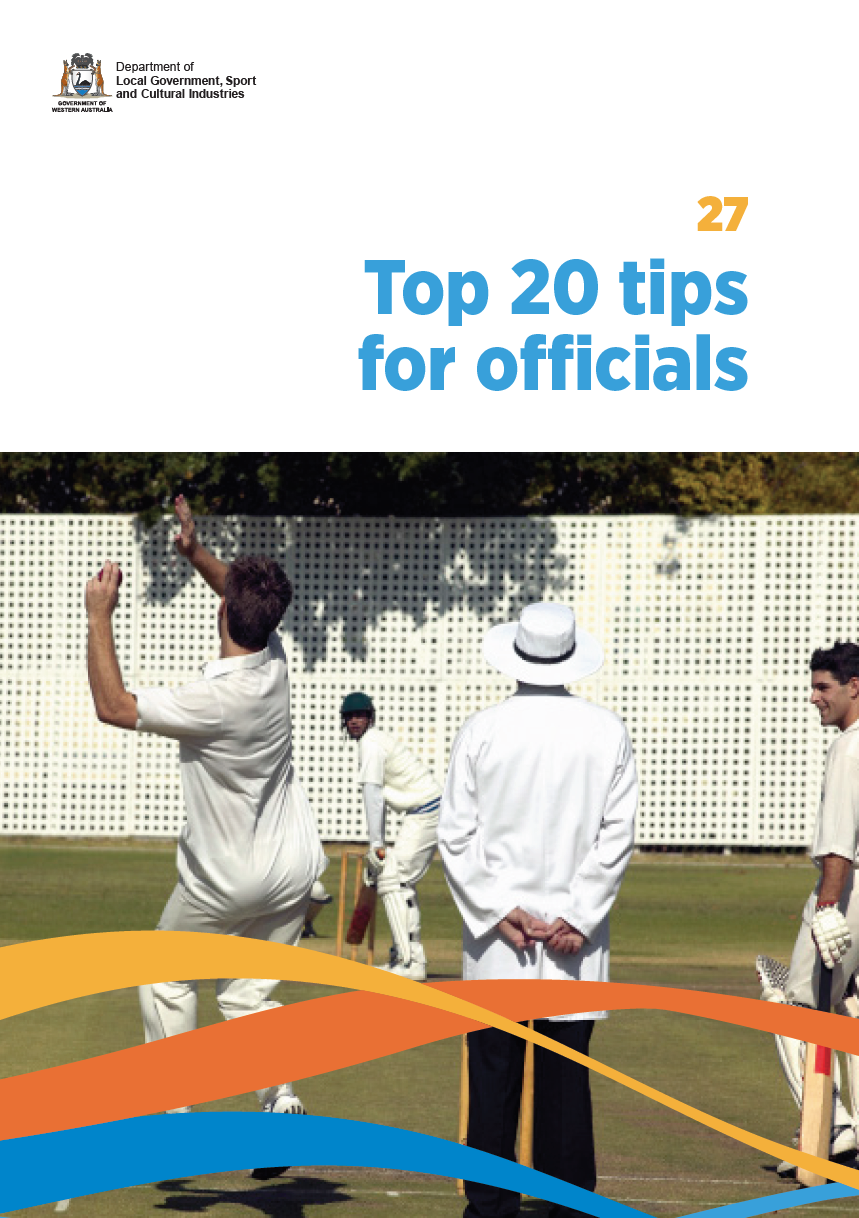 Top 20 tips for officials cover
